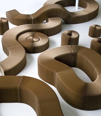 Мебель сделанная из бумаги