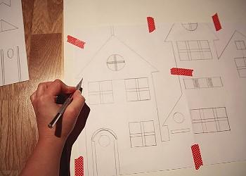 Вырезаем домики из бумаги