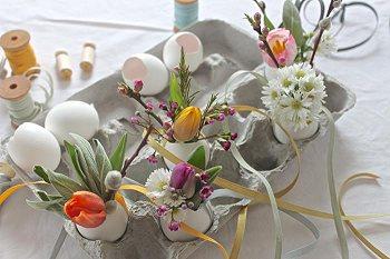 Вазочки из яиц своими руками