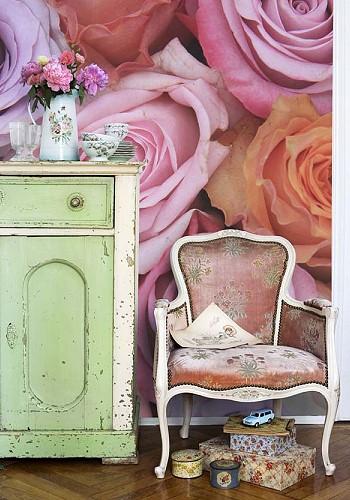 Фотообои кремовые розы