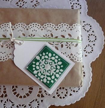 Декор упаковки салфетками