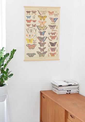 Постер с бабочками в декоре интерьера