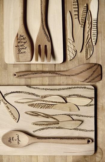 Декорирование кухонной утвари