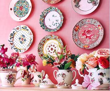 Декор тарелками