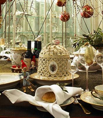 Убранство рождественского стола