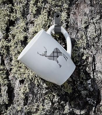 Чашка с изображением оленя