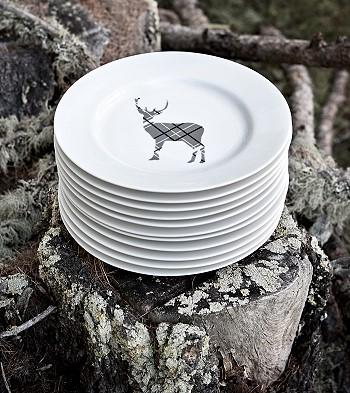 Тарелки с изображением оленя