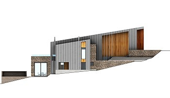 Дом на склоне горы