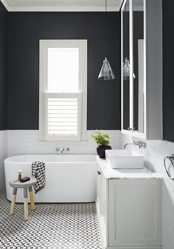 Офомление небольшой ванной комнаты