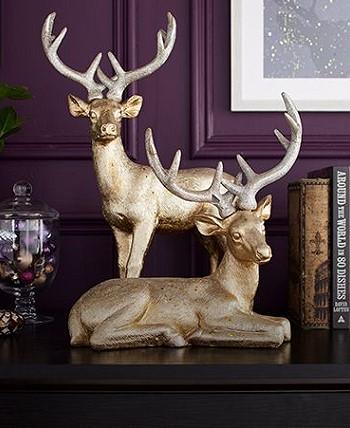 Рождественские олени в дизайне интерьера