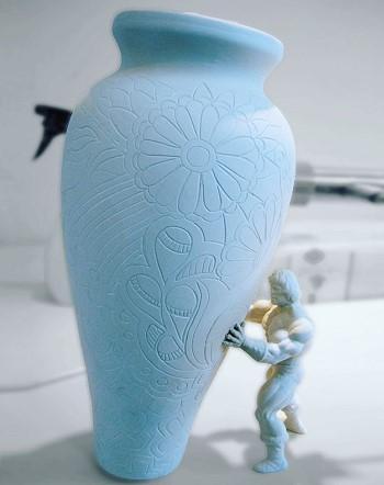 Процесс изготовления вазы