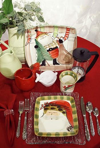 Коллекция новогодней посуды